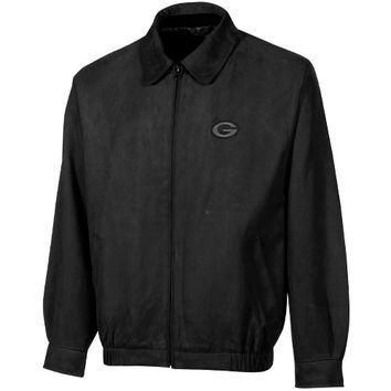 Cutter & Buck Green Bay Packers Microsuede City Bomber Jacket - Black