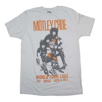 97914bb5 Motley Crue Vintage-Inspired World Tour 1983 T-Shirt