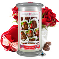 Chocolate Covered Strawberries | Valentine's Day Jewelry Candle