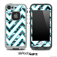 Large Chevron and Snow Camo V3 Skin for the iPhone 5 or 4/4s LifeProof Case