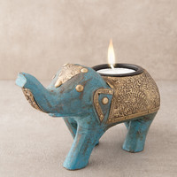 Majestic Elephant Candle Holder