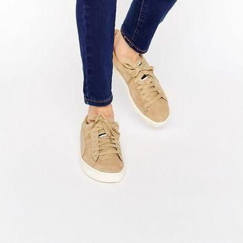 puma exclusive to asos suede basket trainers in sand at asos com  number 1