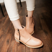 Side Buckle Ankle Boots Women Shoes Fall|Winter 4825