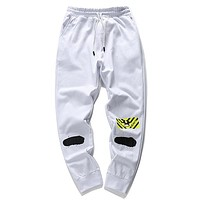 Off White Women Men Fashion Casual Pants Trousers