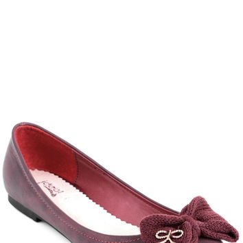 Faux Leather Ballet Flats