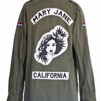 Mary Jane Gang Army Jacket