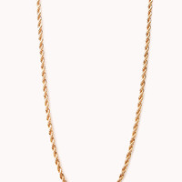 Long Twisted Chain Necklace
