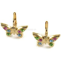 Lever back Butterfly 18Kts of Gold Plated