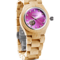 Cora Maple & Lavender - Wood Watch For Women by JORD