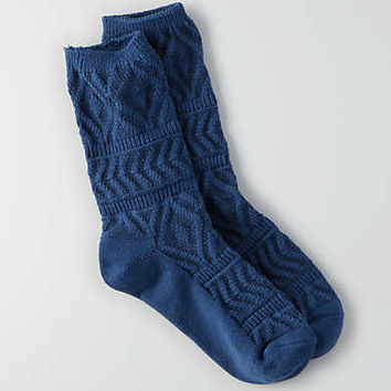 AEO Crew Socks, Navy