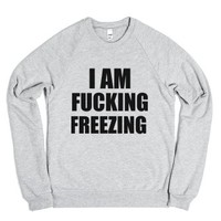 fucking freezing sweatshirt-Unisex Heather Grey Sweatshirt