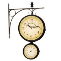 One Kings Lane - Ashton Sutton - Bracket Thermometer & Clock