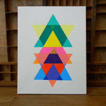"SALE: 20 Percent OFF the ENTIRE shop - Original Guilded Sacred Geometry 11"" x 14"" Acrylic Painting"