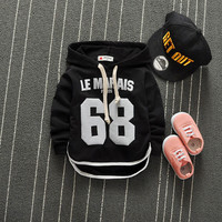 Good quality 2016 Autumn Baby Girls/Boys T Shirt Children Hooded T Shirt Infant/Newborn Casual Cotton Tees Kids Long Sleeve Tops