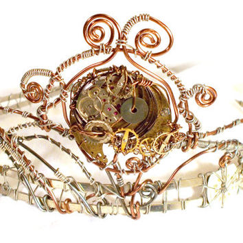 Steampunk Wire Wrap Tiara Headband
