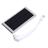 Large Capacity 100000MAH 2 USB Port Solar External Power Bank For Iphone~~ - Walmart.com