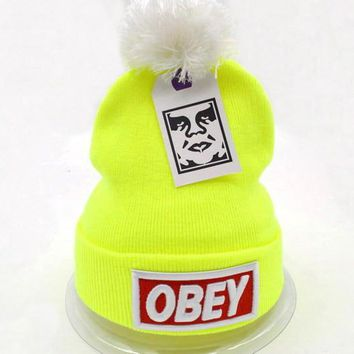 Obey Women Men Embroidery Beanies Knit Wool Hat Cap-20