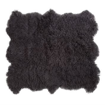 Mongolian Lamb Fur, Charcoal