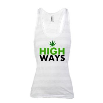 HIGH WAYS Racerback Tank Top> 420 Gear Stop