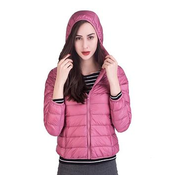 LGYH Women Winter Women 90% White Duck Down Jacket Female Ultra Light Down Jackets Slim Parkas Outerwear Coats Plus Size 3XL