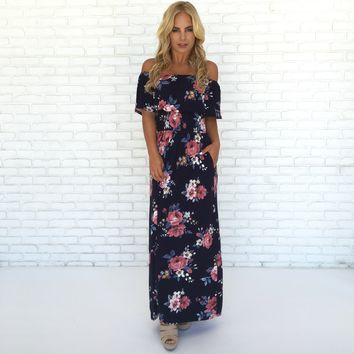 Love Story Floral Maxi Dress