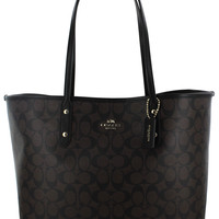Coach Signature Large City Women's Tote Handbag Bag F36126