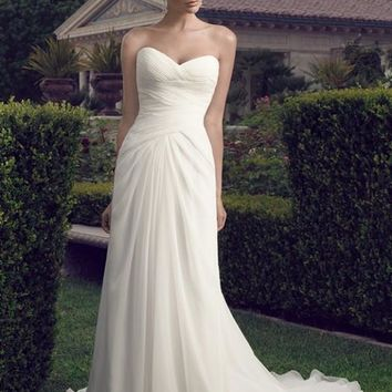 Casablanca Bridal 2157 Strapless Chiffon A-Line Wedding Dress