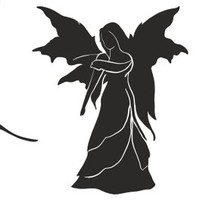 Fairy Wings Silhouettes (eps, cdr, svg file types) Fairy Figures Die Cut Files, Silhouette Cameo, Cricut, Instant Download