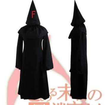 Unisex Halloween Hooded Death Cloak Solid Color Coat Magic Wicca Medieval Cape Cosplay Coat Party Scary Cosplay Costumes