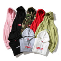 Supreme : Fashion Drawstring Embroidery Long Sleeve Top Sweater Pullover Hoodie From Bailianyi · Originally posted by meredithcampagna