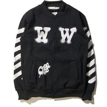 PEAPGZ9 OFF WHITE  Sports Couple Jacket Winter Baseball [11501026764]