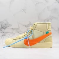 """Off-White x Nike Blazer Mid """"All Hallows Eve"""" Canvas Sneaker - Best Deal Online"""