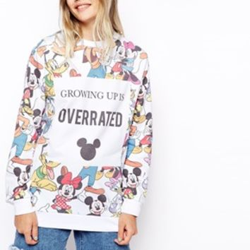 ASOS Sweatshirt with Disney Growing Up is Overrated Print