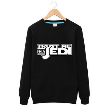 Star Wars Trust Me I'm A Jedi Printed Hoodies Male and female couples models Hoodies Tops Fashion 2017 Fleece Sweatshirts Hombre