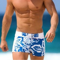 Men Shorts Printed Beach Pants Mens Swimwear Mens Clothing Summer