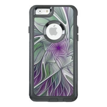 Flower Dream, Abstract Purple Green Fractal Art OtterBox iPhone 6/6s Case