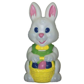 Lighted, Light Up Outdoor Yard Easter Bunny Plastic Blow Mold Decoration