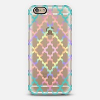 Diamond Rainbow Ikat Quatrefoil iPhone 6 case by Organic Saturation | Casetify