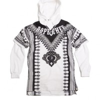Chef -Dashiki white & tattoo hoodie