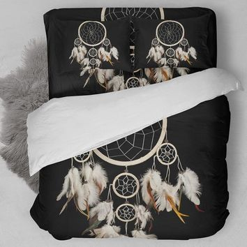 Cool Fanaijia  dream catcher Bedding Set Bohemian Print Duvet Cover set with pillowcase 3pcs Design Queen King Bed  best gift bedlineAT_93_12