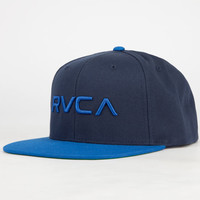 Rvca Twill Ii Mens Snapback Hat Navy One Size For Men 23822621001