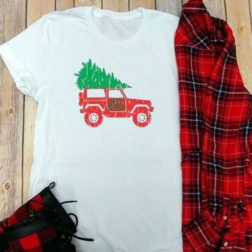 Vintage Fall/Holiday Trucks Jeep