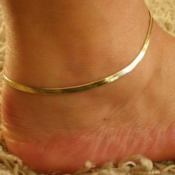 The new metal chain snake chain bracelet anklet