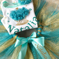 First Birthday Girl Package - Tutu Matching Outfit - Party Decoration Set - Full Photo Prop Smash Cake Decorations - Cake Topper - Banner