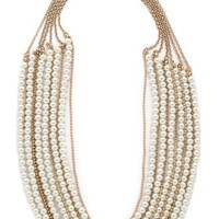 Jules Smith Layered Pearl & Chain Necklace