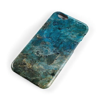 Retro Blue Marble Stone Case Cover for iPhone 7 7Plus & iPhone se 5s 6 6 Plus +Gift Box