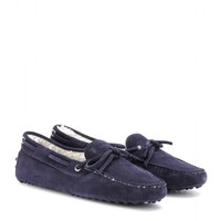 tod's - heaven new laccetto suede loafers