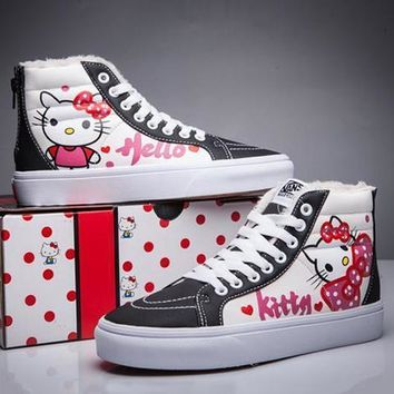 VANS X Hello Kitty SK8-Hi Flats Ankle Boots Sneakers Sport Shoes-1