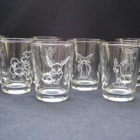 Eeveelution Full Set Shot Glasses