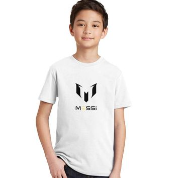 New arrival Boys t shirt Football Messi Children clothing Baby summer tee teen age summer kids tops teenage T-shirt Barcelona